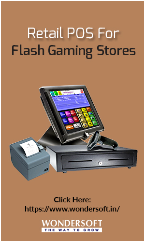 An Image Of The Best Retail POS Software On Display For Flash Gaming Stores.